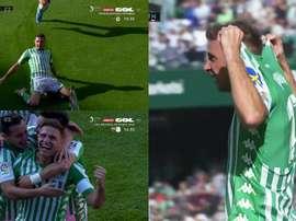 Joaquín se torna o jogador mais velho a marcar um 'hat-trick'. Captura/GOL
