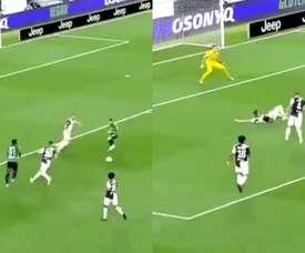 'Papu' Gómez y Duván Zapata combinaron muy bien ante la Juve. Capturas/beINSports