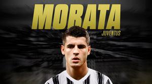 Álvaro Morata, atacante emprestado pelo Atlético de Madrid à Juventus. BeSoccer