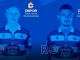 Dos refuerzos 'colchoneros' para el Deportivo. Twitter/RCDeportivo
