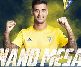 Nano Mesa, nuevo jugador del Cádiz. Twitter/Cadiz_CF