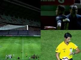El Deportivo Lara-Huracán se detuvo por un apagón. Capturas/FOXSportsARG