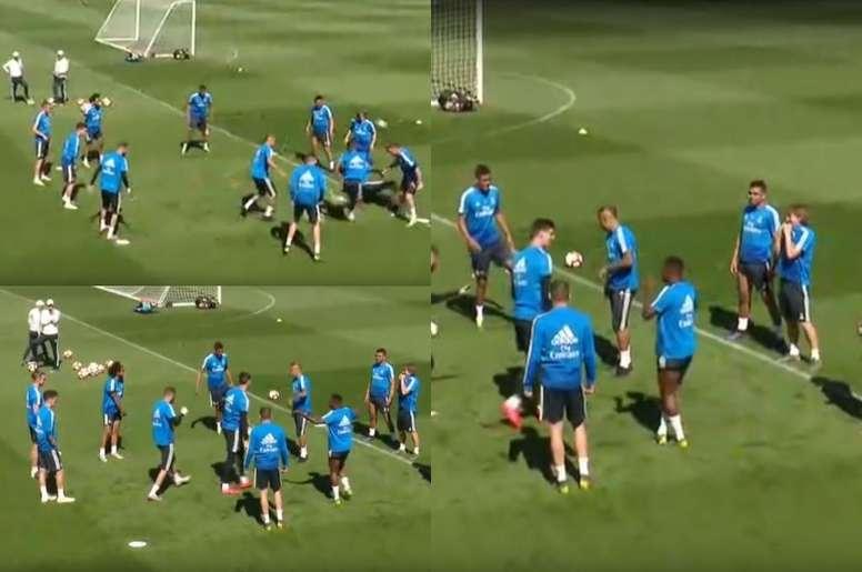 Vinicius démontre toute sa qualité technique. Screenshot/ASTV