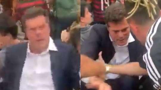 El mítico Julio Cesar se desmayó tras el segundo gol de Flamengo. Capturas/HablaDeportes