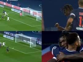 Após linda jogada de Neymar, Kean faz um doblete pelo PSG. Captura/Canal+