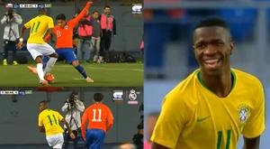 Vinicius was in fine form throughout. Screenshot/RealMadridTV