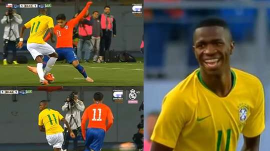 Vinicius dejó detalles de calidad. Captura/RealMadridTV