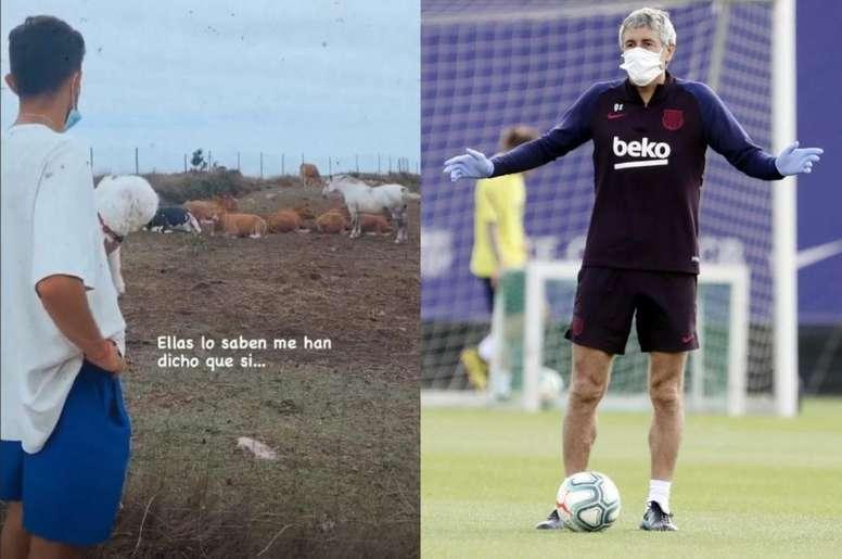 El Barça se enfrenta al Bayern en los cuartos de Champions. Instagram/larosetien/EFE