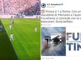 La Juventus de Cristiano se llevó los tres puntos. Captura/Twitter