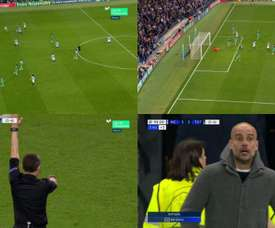 Sterling thought he'd done it...but VAR had other ideas.Capturas/Movistar