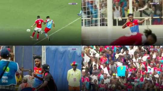 Bakambu a apporté la qualification à son pays. Captures/beINSports
