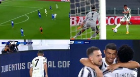 A comfortable win for Juve. Screenshot/Movistar