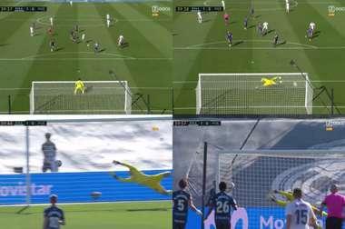 Hazard scored on his first La Liga start this term. Screenshot/ZDOCU