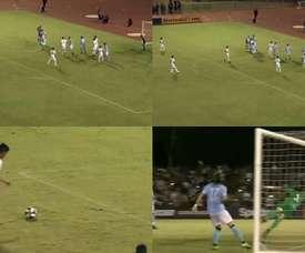 El 'ahijado' de Ibra ya marca faltas como Messi. Captura/MLS