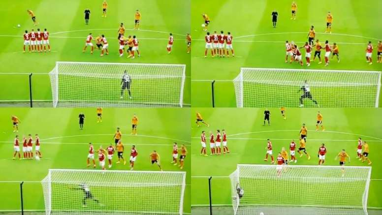 Kane scored a lovely free-kick. Capturas/SkyBetChampionship