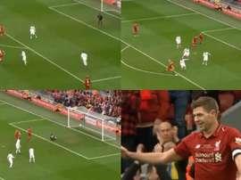 But victorieux de Gerrard à al dernière minute. Captures/LFCTV