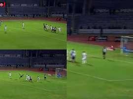 El gol de chilena llegó en los último minutos. Captura/Copamx