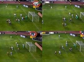 Coquimbo se quedó sin la victoria. Capturas/CDF
