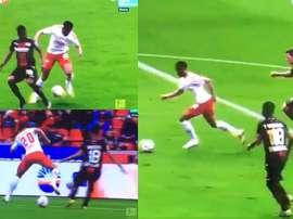 En el minuto 84 de partido. Captura/MovistarLigadeCampeones