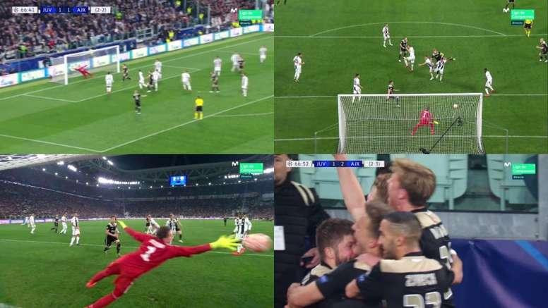 De Ligt desveló lo que pensó antes de hacer el gol de la clasificación. Capturas/Movistar