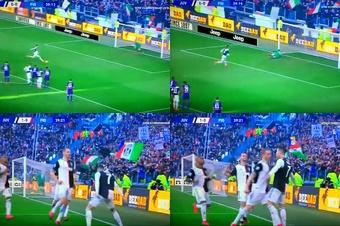 Cristiano Ronaldo égale le record de David Trézeguet à la Juventus. Capture/FOXSPORTSLIVE