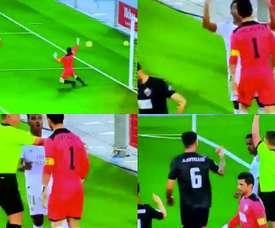 Rodrygo's celebration has got him suspended for the Clasico. Captura/RealMadridTV