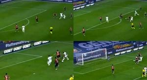 Lukaku ya rescató al Inter en Europa League. Captura/Movistar