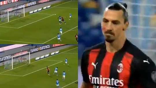 La rete del vantaggio di Ibrahimovic. Movistar
