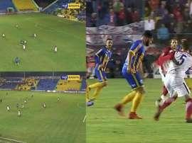 Mario Ricardo scored a simply stunning goal. Twitter/TigoSports