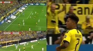 Jadon Sancho a inscrit son premier but en Bundesliga. Capture/Canal+Sport