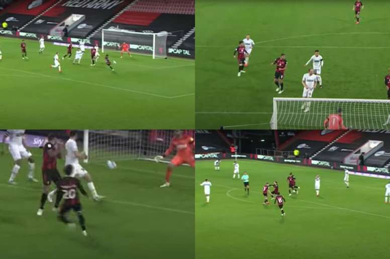 El español se estrenó en territorio inglés con el Bournemouth. Captura/YouTube/DerbyCountyHighlights
