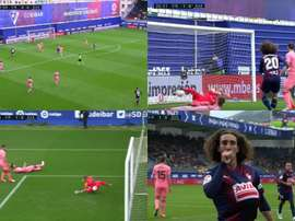 Quand Cucurella ouvre le score contre 'son' équipe. Captura/beINSports