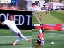 Vinícius inscrit deux buts en moins de 20 minutes. Capture/RealMadridTV
