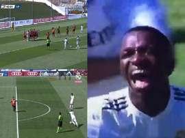 Vinicius a marqué un nouveau but. Capture/RealMadridTV