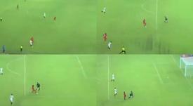 Doble sorpresa en Tanzania: ¡la defensa del Sevilla salió dormida!. Capturas/beINsports