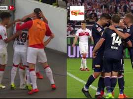Gentner put Stuttgart in front and Abdullahi levelled two minutes later. Capturas/FOXSports