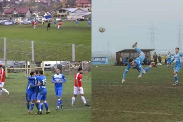En la victoria del Stiinta Miroslava al Pascani por 4-0. Captura/Olé