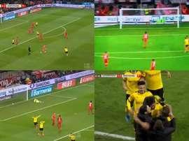 Emre Can marcou um golaço em sua estreia.  Captura/beINSPORTSHD2