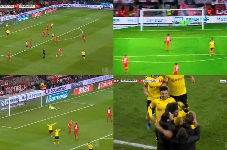 Super Emre Can: goal pazzesco al debutto da titolare con il Dortmund. Captura/Movistar