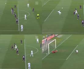 Faraoni scored a fantastic goal, but then Cutrone levelled at the death. Capturas/DAZN