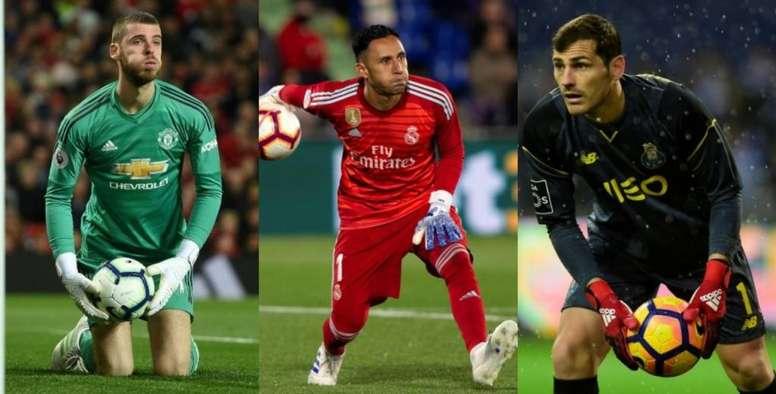 El destino vuelve a unir a De Gea y Keylor Navas... y Casillas. EFE/AFP