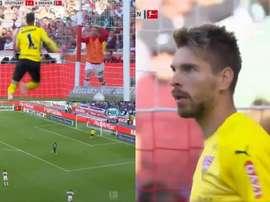 El gol encajado por Zieler ya ha dado la vuelta al mundo. Captura/FOXSports
