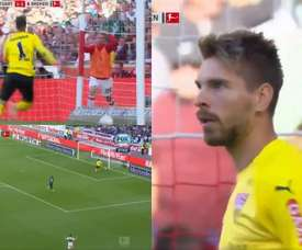 O gol sofrido por Zieler está dando volta ao mundo. Captura/FOXSports