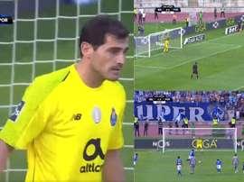 Casillas n'a rien pu faire. Capture/Twitter