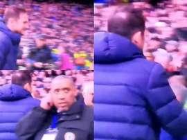 Lampard lleva un tres de tres contra Mourinho. Captura/DAZN