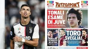 La 'gifle' à la FIFA d'un Cristiano 'furieux'. AFP/Tuttosport
