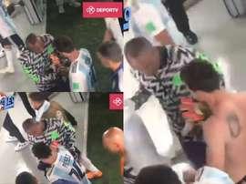 Ikechukwu Ezenwa se quedó con la camiseta de Messi. DEPORTV