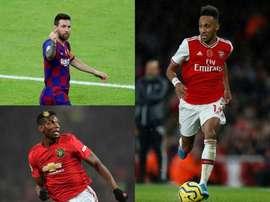 15 estrelas que terminam o contrato em 2021.EFE/AFP