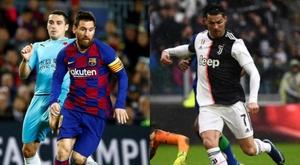 Gols de Messi vs. Cristiano na fase final da Champions. AFP