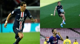 Di María es uno de los jugadores de fútbol más delgados del momento. EFE/AFP